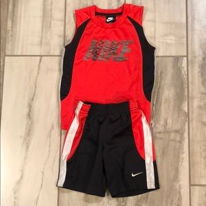 Nike boys two-piece shorts and tank set outfit